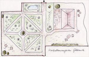 Heilpflanzengarten Göldenitz - Skizze